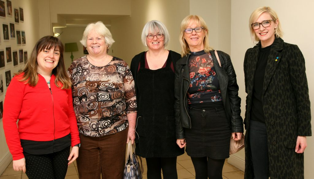 Mayo UPSTART 2018 launch. From left to right, Aoife O'Toole, Assistant Arts Officer, Debora Gonoude, Personal Assistant, Orla Henihan, Artistic Director, (acting) Linenhall Arts Centre, Castlebar, Ann Connolly , Drama Therapist, Elaine Brown, Mental Health Peer Support Worker.