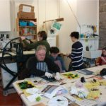 People involved in Screen Printing